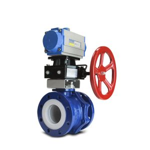 Automated PFA lined ball valve FluoroSeal