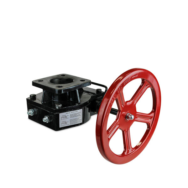Declutchable manual override gear operator valve automation FluoroSeal