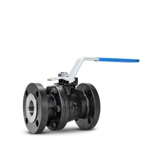 Floating ball valve two piece body FluoroSeal