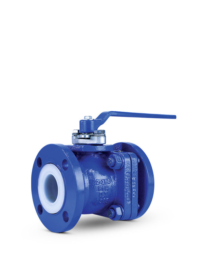 Lined ball valve FluoroSeal
