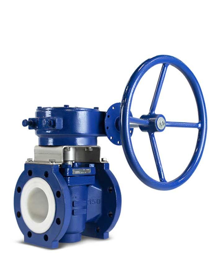 Lined plug valve FluoroSeal