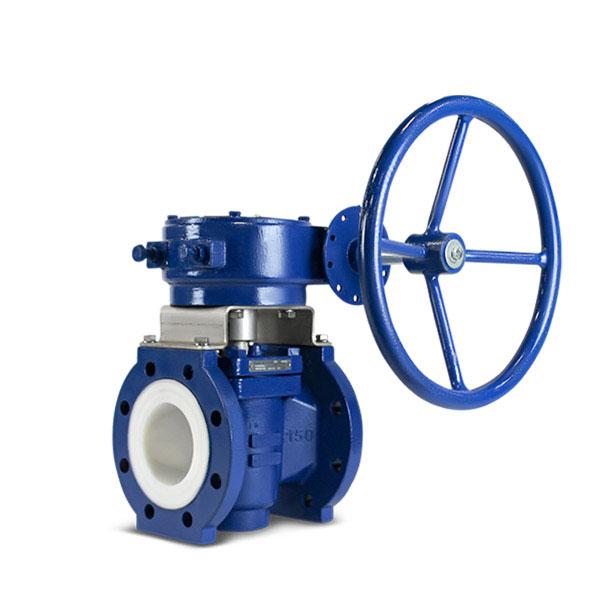 Lined plug valve PFA FluoroSeal