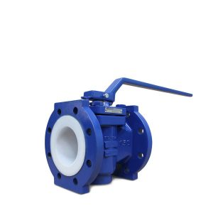 Lined plug valve wrench operated FluoroSeal rv