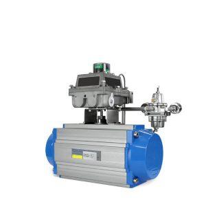 Pneumatic positioner rack & pinion pneumatic actuator FluoroSeal