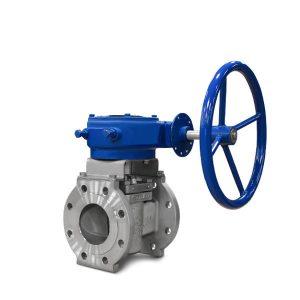 Sleeved plug valve FluoroSeal gear operated lv
