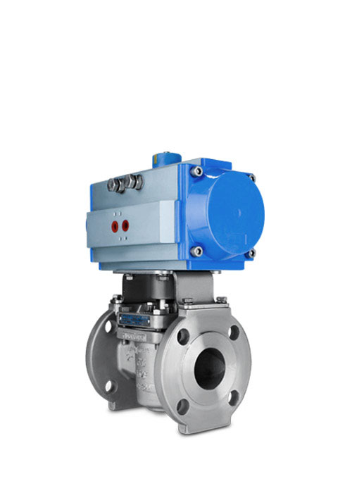 Sleeved plug valve pneumatic actuator FluoroSeal