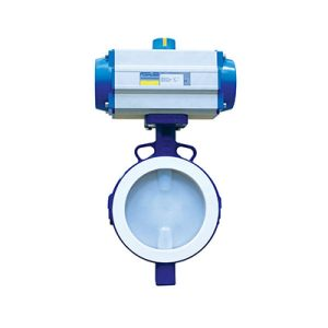 lined butterfly valve wafer automated FluoroSeal fv
