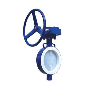 lined butterfly valve wafer gear operated FluoroSeal lv