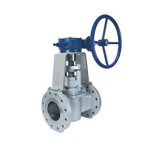 severe service plug valve gear operated FluoroSeal